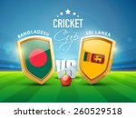 bangladesh vs sri lanka cricket ... | Shutterstock .eps vector #260529518