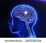 computer circuit board in the...   Shutterstock . vector #260530256