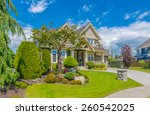 big custom made luxury house...   Shutterstock . vector #260542025