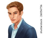vector portrait of a man | Shutterstock .eps vector #26056756
