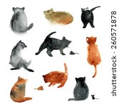 9 Cute Watercolor Cats With...