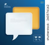 vector speech bubble icon. info ... | Shutterstock .eps vector #260576162