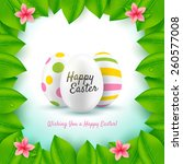 happy easter greeting card.... | Shutterstock .eps vector #260577008