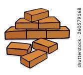 Bricks Stack   Cartoon Vector...