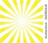 sunbeam yellow halftone... | Shutterstock .eps vector #260582618