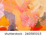 oil painting abstract... | Shutterstock . vector #260585315