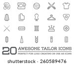 Set Of Vector Tailoring Tailor...