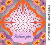 circular  seamless pattern of... | Shutterstock .eps vector #260592338