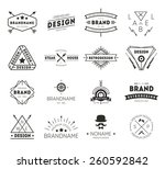 Stock vector design logo vintage 260592842