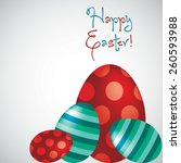 Happy Easter Egg Card In Vector ...