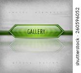 gallery button. vector design...