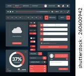 set of flat design ui elements...