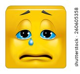 square emoticon crying | Shutterstock . vector #260605358