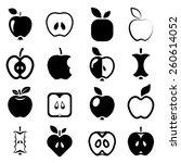 apple icons | Shutterstock .eps vector #260614052