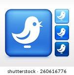 bird on blue square button | Shutterstock .eps vector #260616776