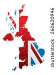 united kingdom map with flag   Shutterstock .eps vector #260620946