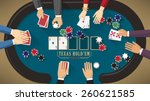 people playing poker around a... | Shutterstock .eps vector #260621585