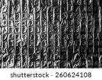 crumpled foil as a background | Shutterstock . vector #260624108