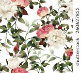 seamless floral pattern with... | Shutterstock . vector #260627822