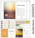 modern web design elements.... | Shutterstock .eps vector #260630672