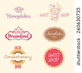 set of logo templates for... | Shutterstock . vector #260630735