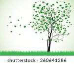 valentine tree with hearts on a ... | Shutterstock .eps vector #260641286