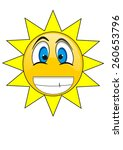 smiley face icon  sun  | Shutterstock .eps vector #260653796