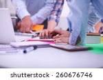 young business people working... | Shutterstock . vector #260676746