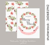 wedding invitation template... | Shutterstock .eps vector #260681942