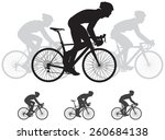 bicycle race vector silhouettes ... | Shutterstock .eps vector #260684138