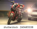 photo of a motorcycle parking... | Shutterstock . vector #260685338