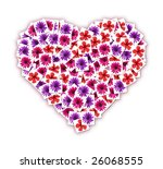 collage of blossoming flowers... | Shutterstock . vector #26068555