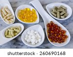 variety of dietary supplements ... | Shutterstock . vector #260690168