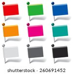 set of pins in the form of... | Shutterstock .eps vector #260691452