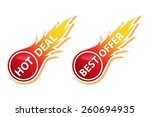 hot deal and best offer... | Shutterstock .eps vector #260694935