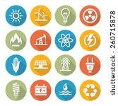 energy icons   Shutterstock . vector #260715878