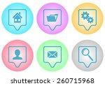 vector website menu icons on...
