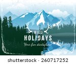 landscape with forest and... | Shutterstock .eps vector #260717252