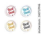 best deal stickers   Shutterstock .eps vector #260719946