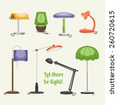 set of lamps. furniture and... | Shutterstock .eps vector #260720615