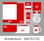 red corporate identity template ... | Shutterstock .eps vector #260721722