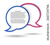 two vector polygonal speech... | Shutterstock .eps vector #260724746