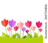 Coloring 3d Tulips Isolated On...