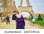 beautiful young tourist in... | Shutterstock . vector #260725016