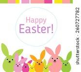modern flat easter greeting... | Shutterstock .eps vector #260727782