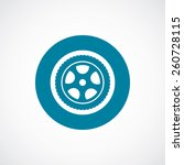 car wheel icon bold blue circle ... | Shutterstock .eps vector #260728115