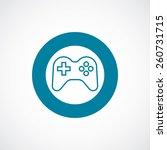 joystick icon bold blue circle...