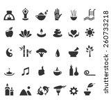spa yoga zen flat icons...   Shutterstock .eps vector #260733218