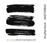 vector set of grunge brush... | Shutterstock .eps vector #260734865