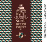 invitation to retro party....   Shutterstock .eps vector #260734982
